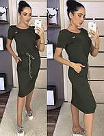 Летнее платье oversize на кулиске с карманами / вискоза / Украина 1-545, фото 1