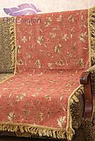 Комплект покрывал Магнолия на диван и кресла. Цвет - терракот , фото 1