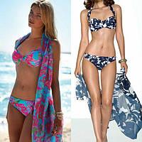 Молодёжные купальники,пляжные туники и парео с 42 по 48 размер
