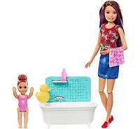 Кукла Barbie Скиппер няня время купания Skipper Babysitters Small Toddler