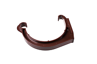 Держатель желоба ПВХ желоб d=150 мм, труба d=110 мм (белый коричневый)