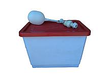 Бак для поения кур бройлеров перепелов кроликов для ниппельных поилок. Емкость для ниппельного поения, фото 1