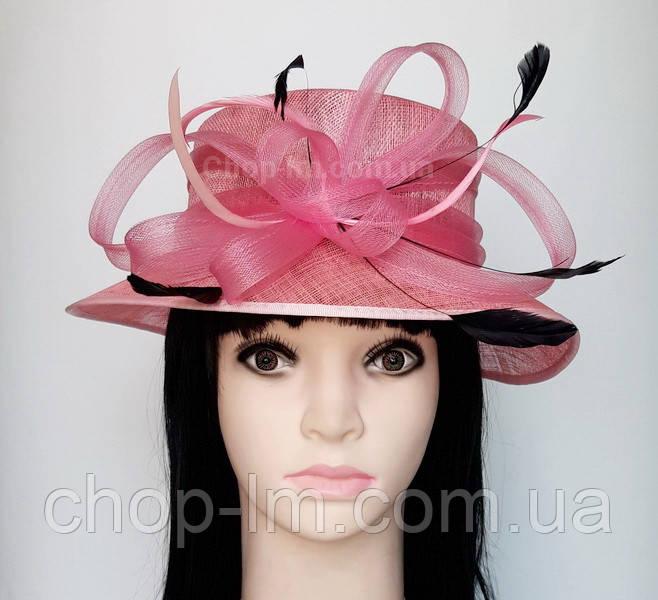 """Шляпа женская """"Совершенство"""" нежно-розовая"""