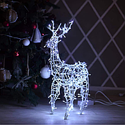 Гирлянда внешняя Adenki Олень новогодний светодиодный 70 см Белый (5-70WHITE)