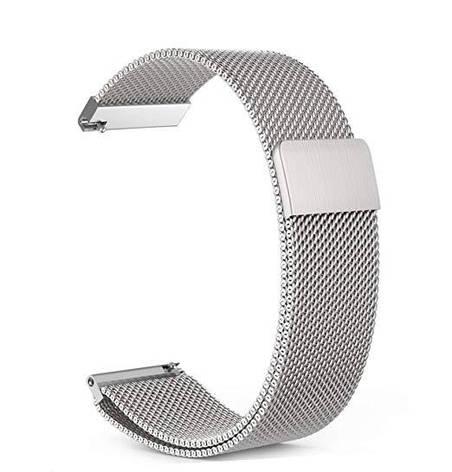 Ремешок BeWatch миланская петля для Xiaomi Amazfit BIP Silver (1010218), фото 2