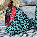 Леопардовий роздільний купальник жіночий, фото 2