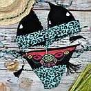 Леопардовий роздільний купальник жіночий, фото 3