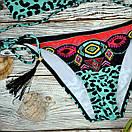 Леопардовий роздільний купальник жіночий, фото 4