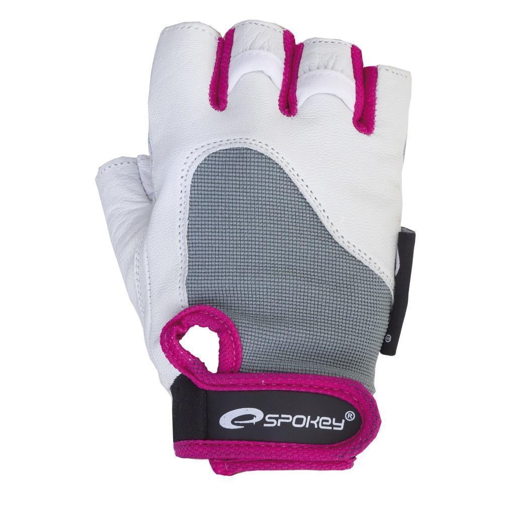 Женские перчатки для фитнеса Spokey ZOLIA L Бело-фиолетовые (s0449)