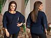 Жіноча стильна елегантна шифонова повітряна блуза з воланами на рукавах (розміри 48-58). Арт-4195/32