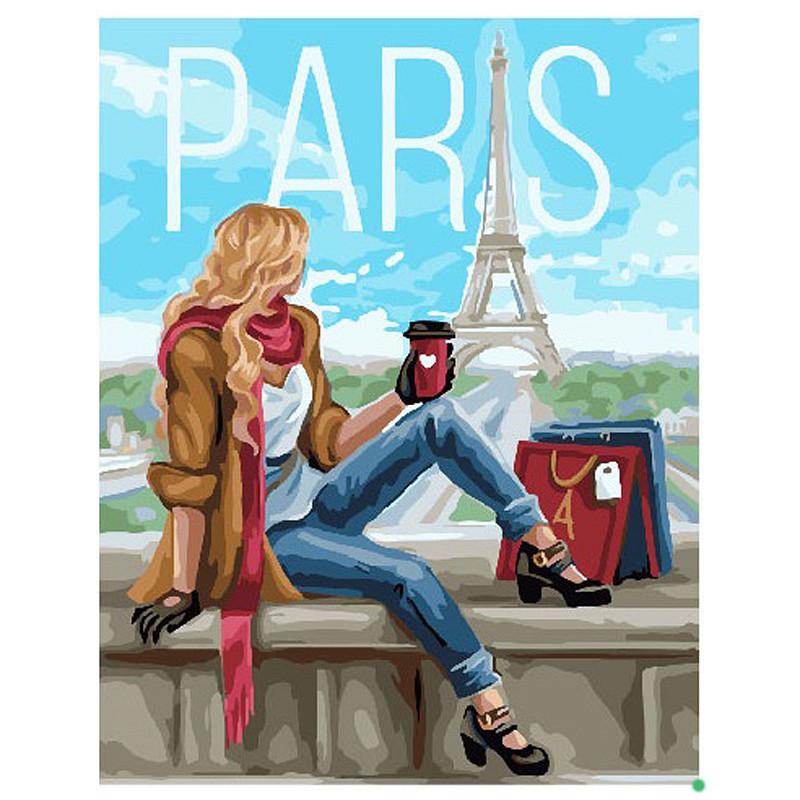 Картина по номерам Шопинг в Париже GX25782