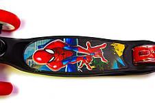 Детский самокат Smart  Led 2 Spiderman Складная ручка - Самокаты, фото 3