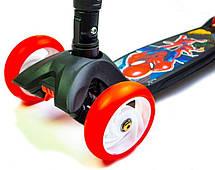 Детский самокат Smart  Led 2 Spiderman Складная ручка - Самокаты, фото 2