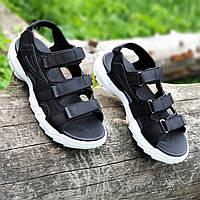 Босоножки сандалии женские черные на толстой подошве (Код: М1484а)