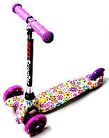 Детский самокат ScooTer Mini Violet Flowers (Разноцветный)
