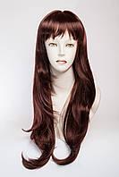 Длинный волнистый парик №4 Цвет каштановый с красным оттенком