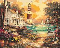 """Картина за номерами """"Будинок біля маяка"""" 40*50см"""