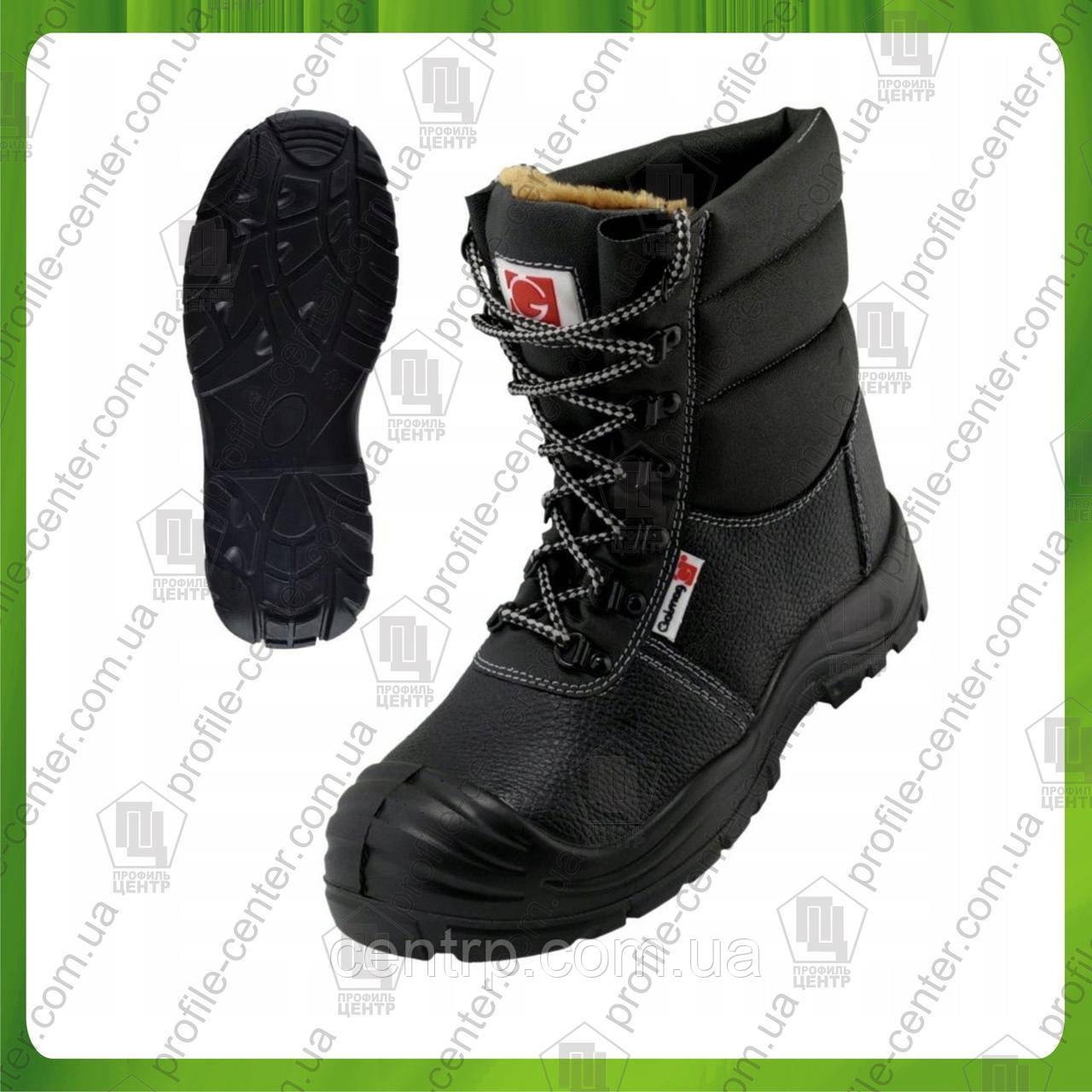 Рабочие зимние берцы с металлическим носком GALMAG 492 SB (нат.кожа + текстильный материал)