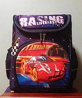 """Школьный рюкзак ортопедический каркасный для мальчика """"Красный гоночный автомобиль"""""""