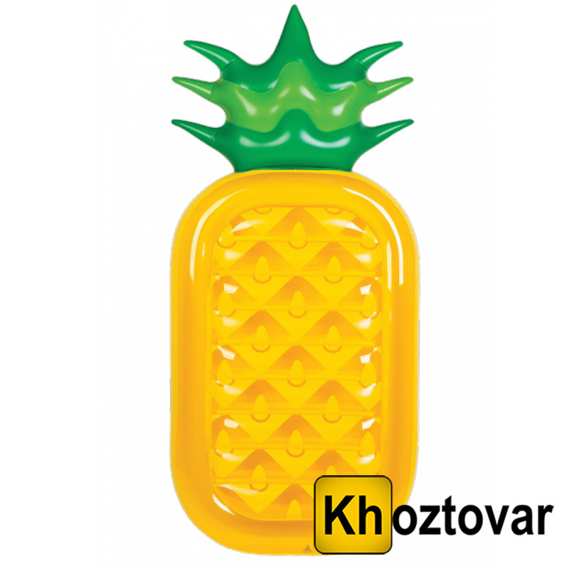 "Надувной матрас ""Ананас"" Pineapple Inflatable Water Floating Row"
