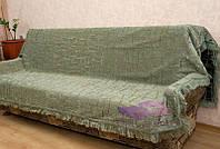 Комплект покрывал Бамбук на диван и кресла. Цвет - оливка, фото 1
