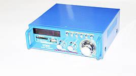 Усилитель звука UKС SN-3636BT USB+SD+FM+MP3 2х120W 2-х канальный Синий (813734850)