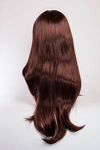 Длинный волнистый парик №4. Цвет каштановый с красным оттенком