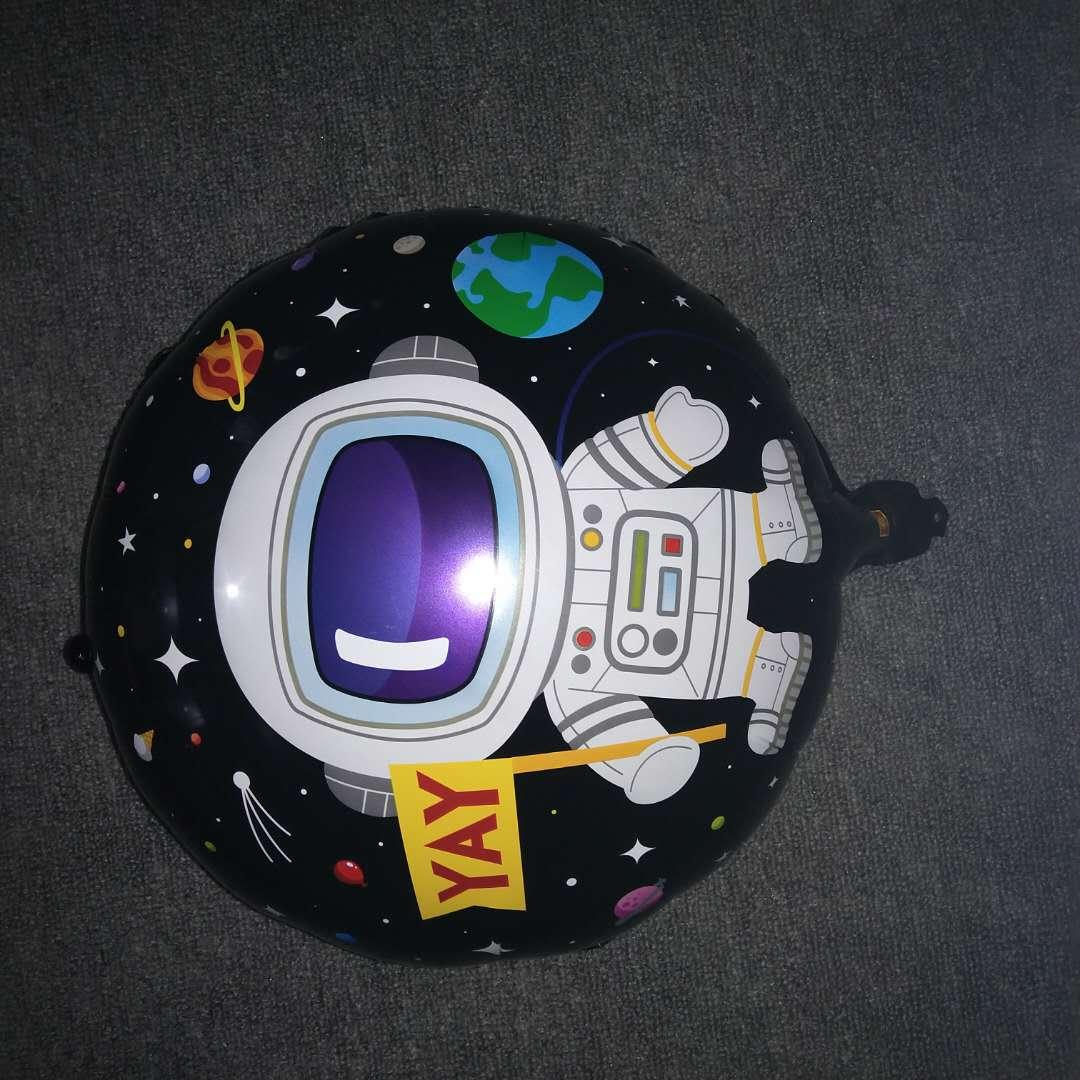 Двосторонній фольгований куля космонавт 45 см