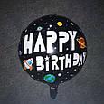 Двосторонній фольгований куля космонавт 45 см, фото 2