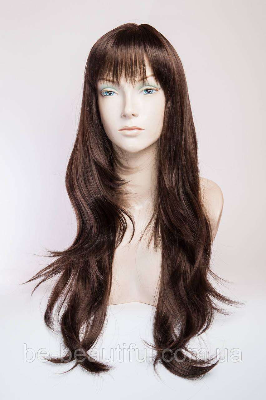 Длинный волнистый парик №4 Цвет молочный шоколад