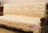 Комплект покрывал Виток крупный на диван и кресла. Цвет - персик