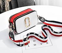 Женская сумка классическая на широком ремне в стиле Marc Jacobs