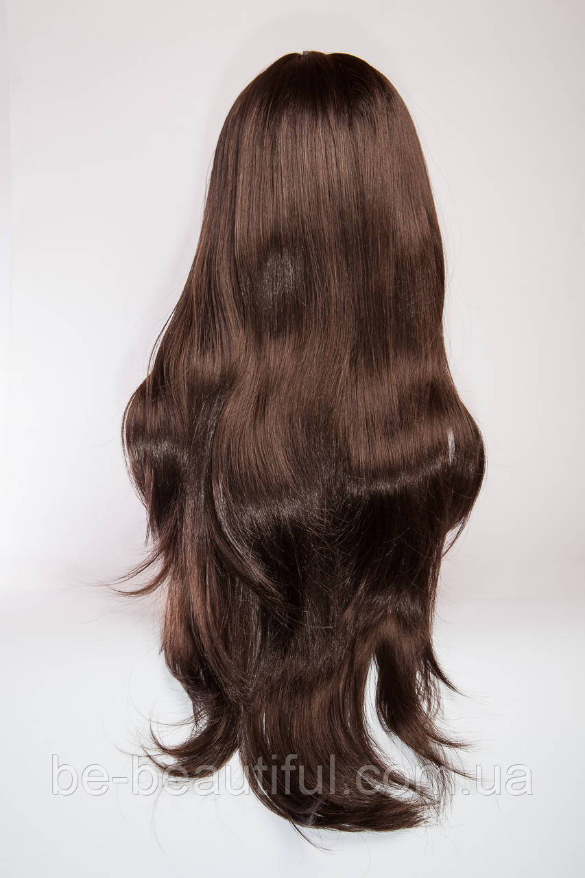 Длинный волнистый парик №4. Цвет молочный шоколад