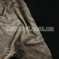 Ткань Кожзам на флисе (мрамор коричневый)