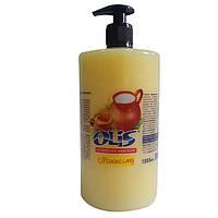 Жидкое косметическое мыло «Молоко и мед» (С дозатором) -Olis 1000 мл
