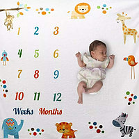 Фотопеленка для первых фотосессий малыша. Фотофон для новорожденного Весёлые Зверушки