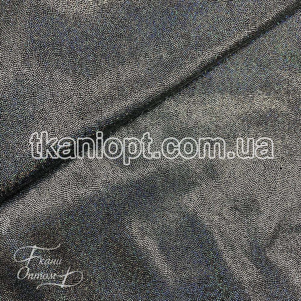 Ткань Лазер (серебро на черном)