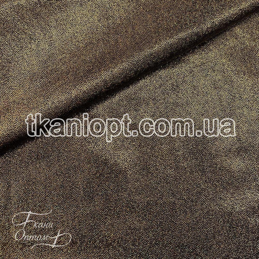 Ткань Лазер голограмма (золото на черном)