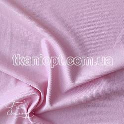 Ткань Рубашечный Софт-диагональ блестящий (розовый)
