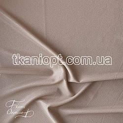 Ткань Рубашечный Софт-диагональ блестящий (бежевый)