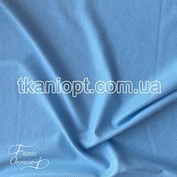Ткань Рубашечный Софт-диагональ блестящий (голубой)