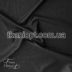 Ткань Рубашечный Софт-диагональ блестящий (черный)