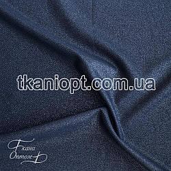 Ткань Рубашечный Софт-диагональ блестящий (темно-синий)