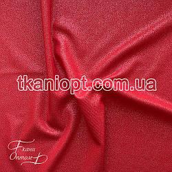 Ткань Рубашечный Софт-диагональ блестящий (красный)