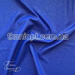 Ткань Рубашечный Софт-диагональ блестящий (электро-синий)
