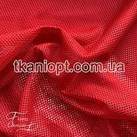 Ткань Сетка подкладочная спорт (красная)
