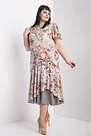 Летнее женское платье с воланами
