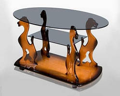 Журнальный столик Котик со стеклом