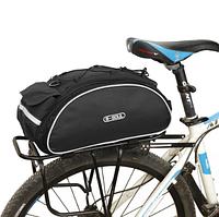 Сумка велосипедная B-Soul на багажник черная