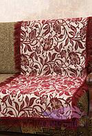 Комплект покрывал Лилия на диван и кресла. Цвет - бордо, фото 1